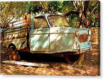 Old Rusty Truck Canvas Print by Tom Gowanlock