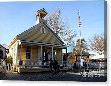 Old Sacramento California . Schoolhouse Museum . 7d11578 Canvas Print by Wingsdomain Art and Photography