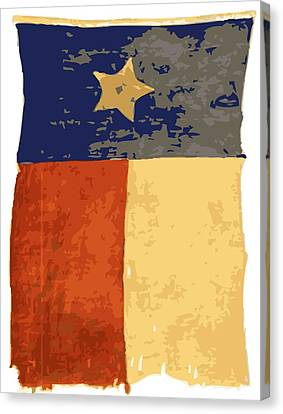 Old Texas Flag Color 16 Canvas Print by Scott Kelley