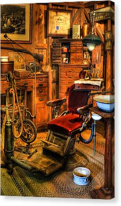 Old Time Dentist Office -  Dentistry - Dentist Chair -  Surgery - Dentist Chair Iv Canvas Print by Lee Dos Santos