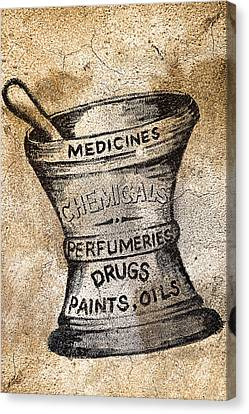 Old Time Medicine Ad Canvas Print by Wendy White