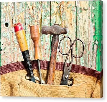 Old Tools Canvas Print by Tom Gowanlock