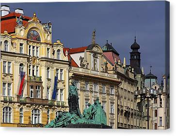 Old Town Square In Prague Canvas Print by Christine Till