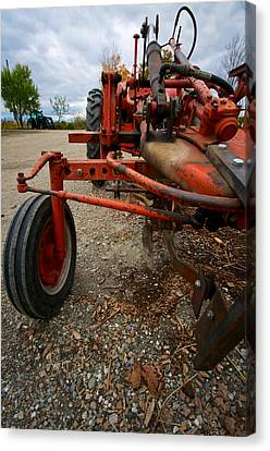 Old Tractor Canvas Print by Mike Horvath