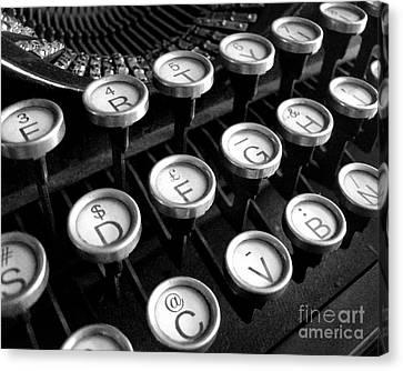 Old Typewriter Canvas Print by Kate McKenna