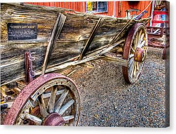 Old Wagon Canvas Print by Jon Berghoff