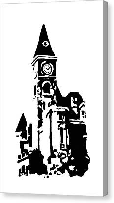 Old Washington County Court House In Fayetteville Ar Canvas Print by Amanda  Sanford