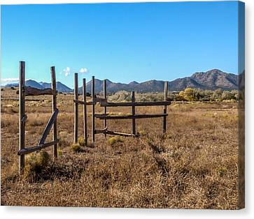 Old West Corral Canvas Print by Ralph Brannan