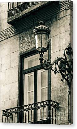 Old Window Lamp Canvas Print by Syed Aqueel