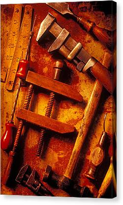Old Worn Tools Canvas Print by Garry Gay