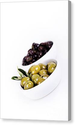 Olive Bowls Canvas Print by Jane Rix