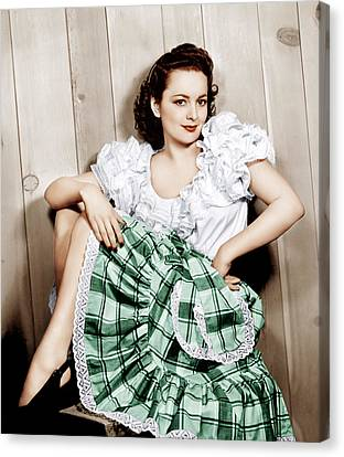 Olivia De Havilland, Ca. 1948 Canvas Print by Everett