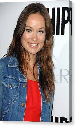 Olivia Wilde At Arrivals For Whip It Canvas Print by Everett