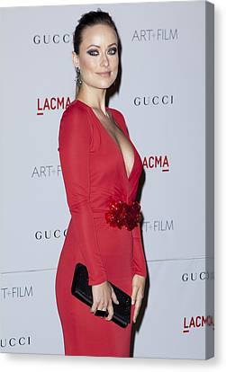 Olivia Wilde Wearing A Gucci Dress Canvas Print by Everett