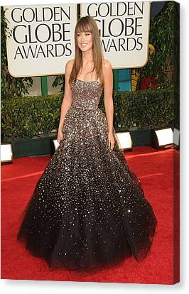 Olivia Wilde Wearing A Marchesa Gown Canvas Print by Everett
