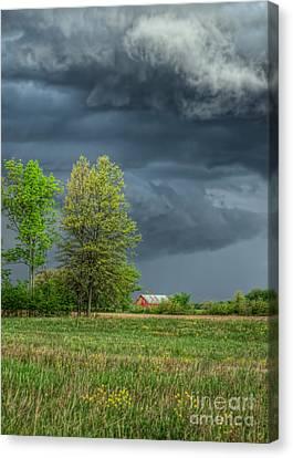 Ominous Sky Of Spring Canvas Print by Pamela Baker