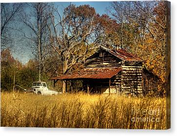 On A Back Road Canvas Print by Benanne Stiens