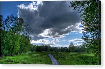 On The Course 3 Canvas Print by Heather  Boyd