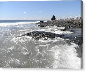 On The Rocks Canvas Print by Kate Gallagher