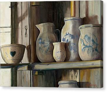 On The Shelf Canvas Print by Sheila Kinsey