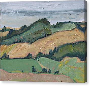 On The Valley Canvas Print by Francois Fournier