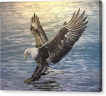 On Wings Of Eagles Canvas Print by Cecilia Putter