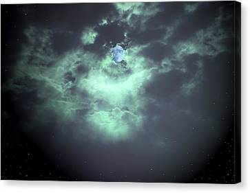 Once In A Blue Moon Canvas Print by Nina Fosdick