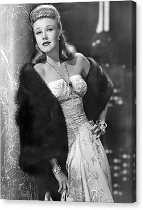 Once Upon A Honeymoon, Ginger Rogers Canvas Print by Everett