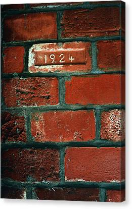 One Brick To Remember - 1924 Date Stone Canvas Print by Steven Milner