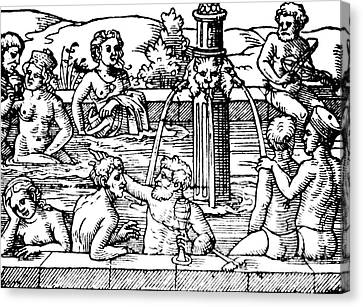Open-air Bath Balneology 1571 Canvas Print by Science Source