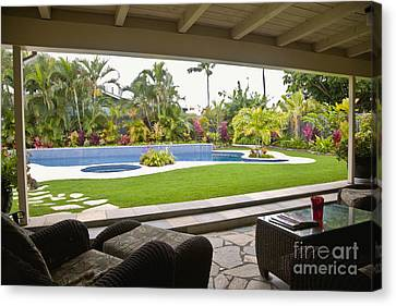 Open Air Luxury Patio Canvas Print by Inti St. Clair