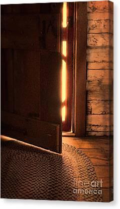 Open Cabin Door Canvas Print by Jill Battaglia