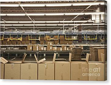 Open Cardboard Boxes Canvas Print by Jetta Productions, Inc