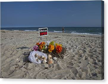 Open For Beach Business Canvas Print by Betsy C Knapp