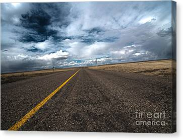 Open Highway Canvas Print by Arjuna Kodisinghe