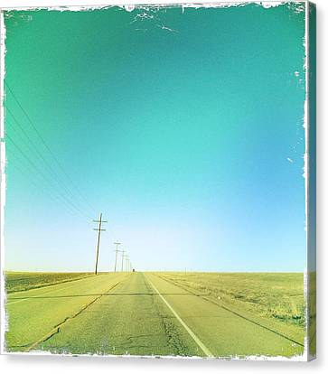 Open Road Canvas Print by A L Christensen