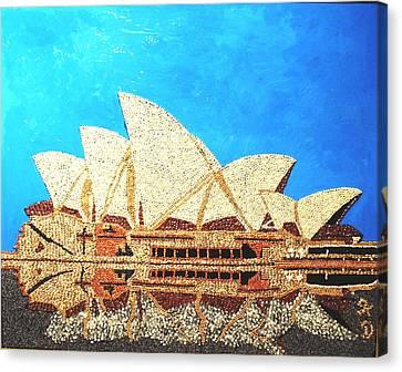 Opera Of Sydney Canvas Print by Kovats Daniela