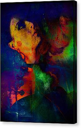 Ophelia In Neon Canvas Print by Adam Kissel