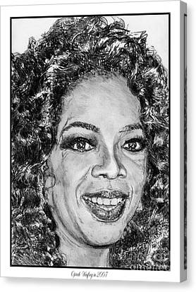 Oprah Winfrey In 2007 Canvas Print by J McCombie
