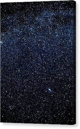 Optical Image Of Cassiopeia And Andromeda Canvas Print by Pekka Parviainen