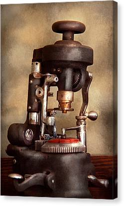 Optometry - Lens Cutting Machine Canvas Print by Mike Savad