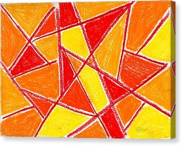 Orange Abstract Canvas Print by Hakon Soreide