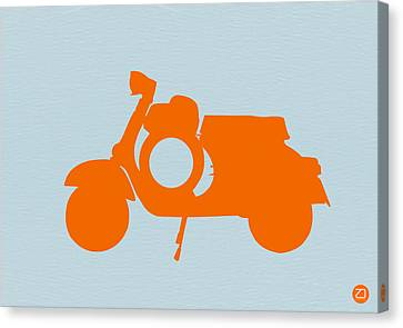 Orange Scooter Canvas Print by Naxart Studio