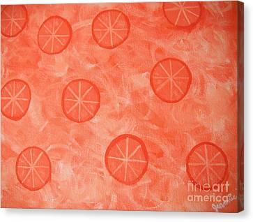 Orange Slices Canvas Print by Jeannie Atwater Jordan Allen