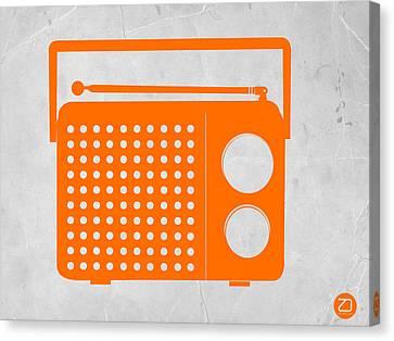 Orange Transistor Radio Canvas Print by Naxart Studio
