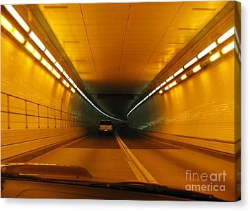 Orange Tunnel In Dc Canvas Print by Ausra Huntington nee Paulauskaite