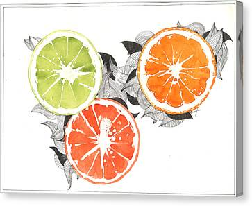 Orange Canvas Print by Viki Vehnovsky
