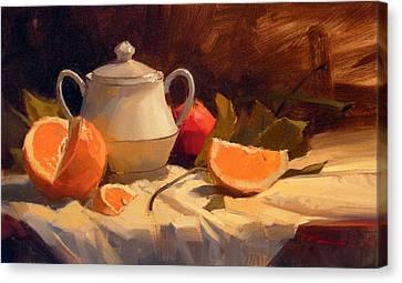 Oranges Canvas Print by Richard Robinson