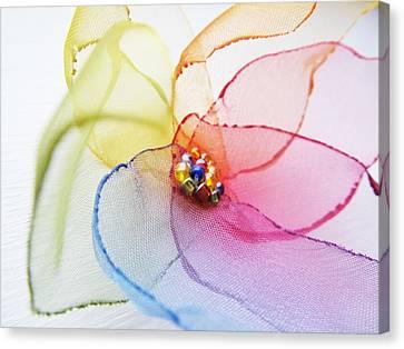 Organza Flower Canvas Print by Marianna Mills