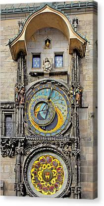 Orloj - Prague Astronomical Clock Canvas Print by Christine Till